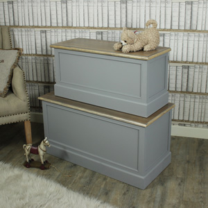 Admiral Range - Grey Set of 2 Blanket Boxes