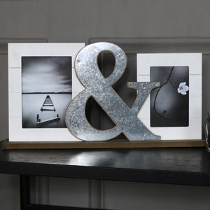 Ampersand Double Photograph Frame