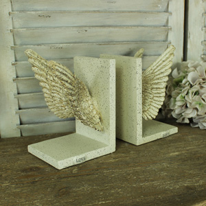 Antique Angel Wing Bookends