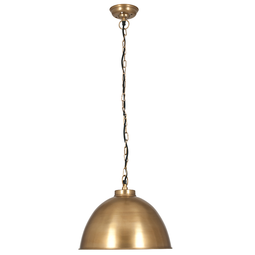 Antique Brass Dome Pendant