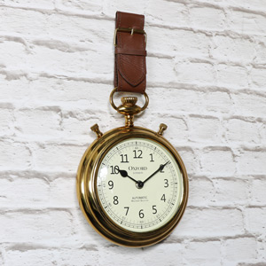 Antique Brass Watch Strap Wall Clock