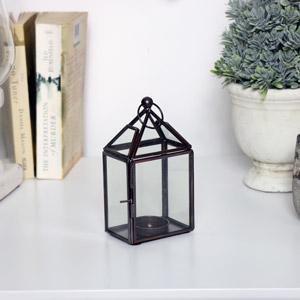 Antique Bronze Lantern Tealight Holder