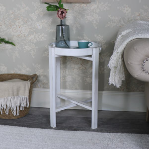 Antique White Folding Tray Table – Mia Range