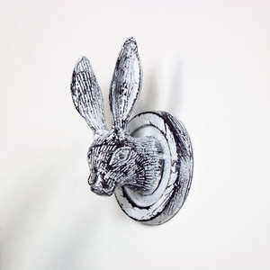 Antique White Hare Head Coat Hook