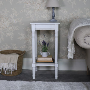 Antique White Square Side Table – Mia Range