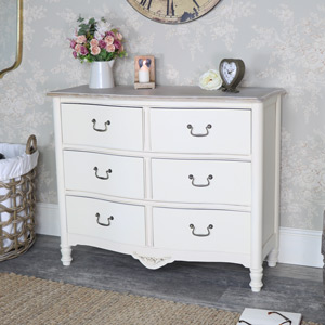 Antoinette Range - Cream 6 Drawer Chest of Drawers