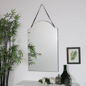 Arched Frameless Wall Mirror 40cm x 60cm