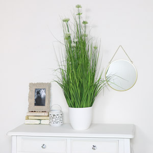 Artificial White Allium Grass