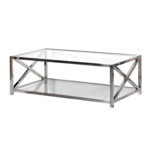 Silver & Glass Coffee Table