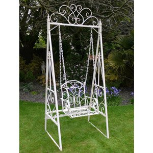Cream Single Seat Garden Swing