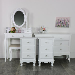 Bedroom Set, Dressing Table Set, Chest of Drawers and a Pair of Bedside Tables - Lila Range