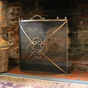 Black & Bronze Fire Screen