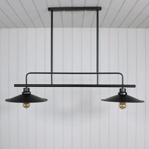 Black Metal Double Ceiling Light