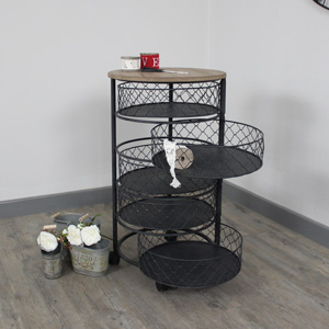Black Metal Storage / Hobby Trolley