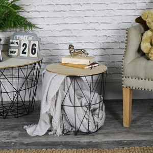 See everything shabby chic style home french style melodymaison black metal wire basket wooden top side table keyboard keysfo