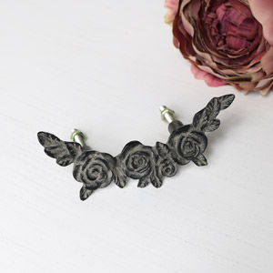 Black Rose Drawer Handle