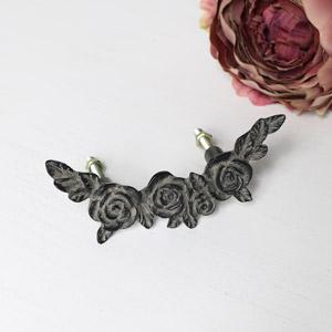 Black Rose Drawer Handle