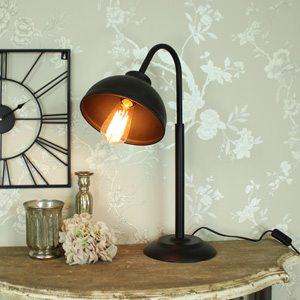 Black industrial style Desk Lamp