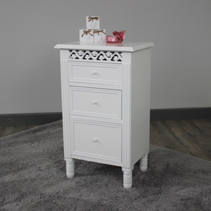 3 Drawer Bedside Table - Blanche Range