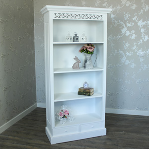 Blanche Range - Tall White Bookcase