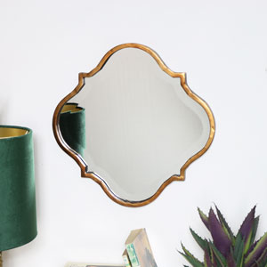 Brass Curved Moroccan Mirror