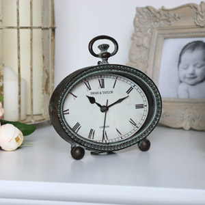Brass Oval Mantel Clock
