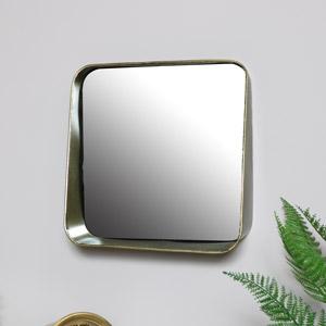 Bronzed Wall Mirror with Shelf