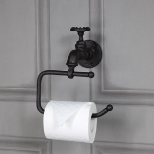 Rustic Metal Tap Toilet Roll Holder