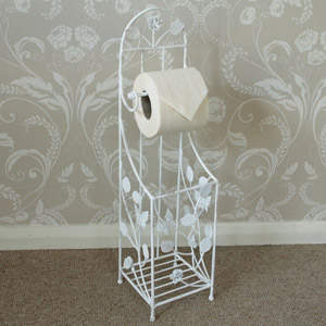 Butterfly Rose Toilet Roll Holder/storer