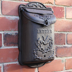 Cast Iron Wall Mounted Mail Box