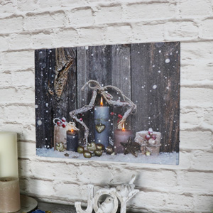 Christmas Light Up Canvas