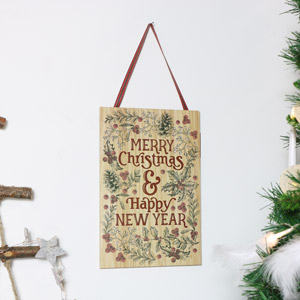 Christmas Wall Plaque - Merry Christmas