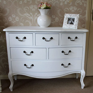 Classic White Range - 6 Drawer Chest of Drawers