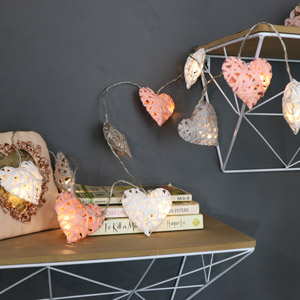 Colourful Heart LED String Fairy Light Garland