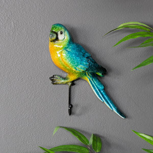Colourful Parrot Key / Coat Hook