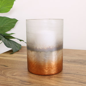 Copper Frosted Glass Tealight Holder