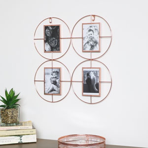Copper Multi Photo Frame