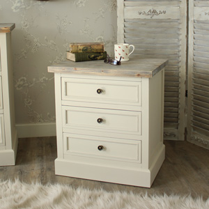 Cream Bedside Table or Chest of Drawers - Cotswold Range