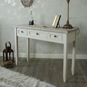 3 Drawer Console Table or Dressing Table - Cotswold Range