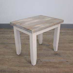 Grey Wooden Stool - Cotswold Range