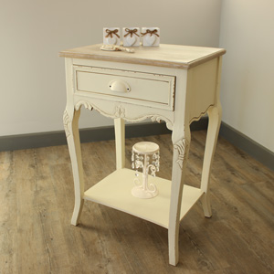 Country Ash Range - Cream One drawer Bedside Table