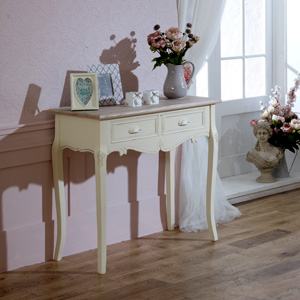 Cream Country Style Console/Dressing Table - Country Ash Range