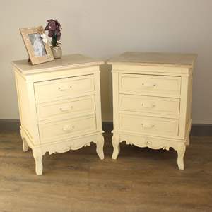 Country Ash Range - Furniture Bundle, Pair of 3 Drawer Bedside Tables