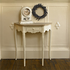 Half Moon Console Table with drawer - Country Ash Range