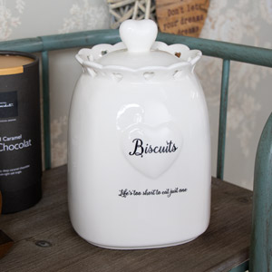 Country Heart Biscuit Jar