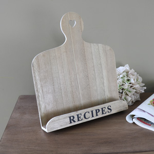 Country Kitchen Wooden Recipe Book Holder