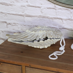 Cream Angel Wing Shaped Trinket Box