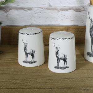Cream Ceramic Highland Cruet Set