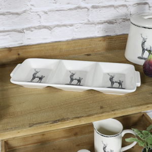Cream Ceramic Highland Nibble Plate