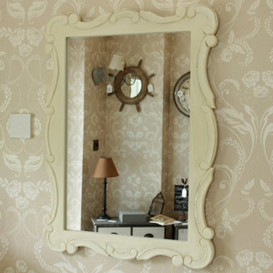 Cream Distressed Wall Mirror